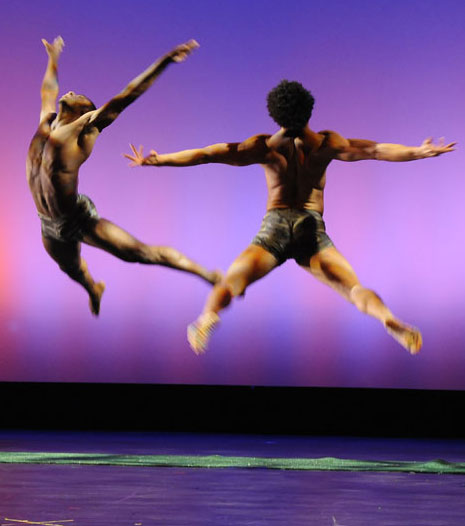 Two Men Leaping.