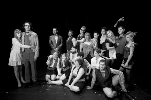 Chameleon Theatre Circle's cast for its 100th production, The Rocky Horror Picture Show.