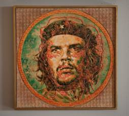 "A painting of the iconic Cuban revolutionary Ernesto ""Che"" Guevara by Adrian Rumbaut."