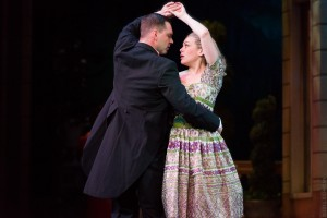 Maria (Billie Wildrick) has an important realization while dancing with Captain von Trapp (Dieter Bierbrauer). Photo by Rich Ryan Photography.