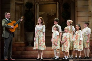 Captain von Trapp (Dieter Bierbrauer) with the von Trapp children. Photo by Rich Ryan Photography.