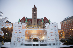 The Ice Castle from the 2014 St. Paul Winter Carnival.