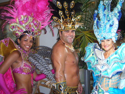 Edilson Lima (center) in an undated carnaval photo.