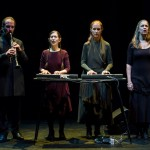 Meredith Monk (2nd from left) and her Vocal Ensemble.