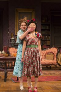 Sally Wingert (Veta Louise Simmons) and Sun Mee Chomet (Myrtle Mae Simmons) in Harvey. Photo by T. Charles Erickson.