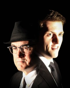 John Goodrich (L) as Carl Hanratty and Austin Stole (R) as Frank Abagnale, Jr. Photo by Daniel K. McDermott for Sinséar Productions.