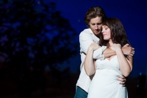 Andrew Samonsky (Robert) and Elizabeth Stanley (Francesca) in The Bridges of Madison County.