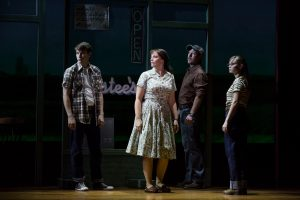 Dave Thomas Brown (Michael), Elizabeth Stanley (Francesca), Cullen R. Titmas (Bud) and Caitlin Houlahan (Carolyn) in the national tour of The Bridges of Madison County.