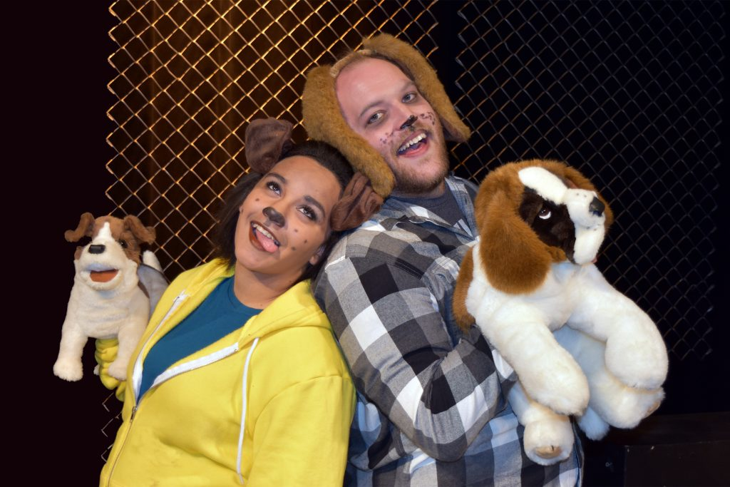 The Pound: A Musical for the Dogs, presented by Imagined TheatrePictured: Pal (Isabel Pone) and Lucky (Zachary Kulzer)