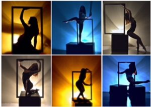 Frame Works, presented by Classical Mechanics. Pictured: Madelyn Kay Lee, Chloe Sekhran, Jacque Lenarz Jacque Lenarz, Madelyn Kay Lee, & Chloe Sekhran.