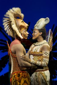 Aaron Nelson (Simba) and Nia Holloway (Nala). Photo by Matthew Murphy.