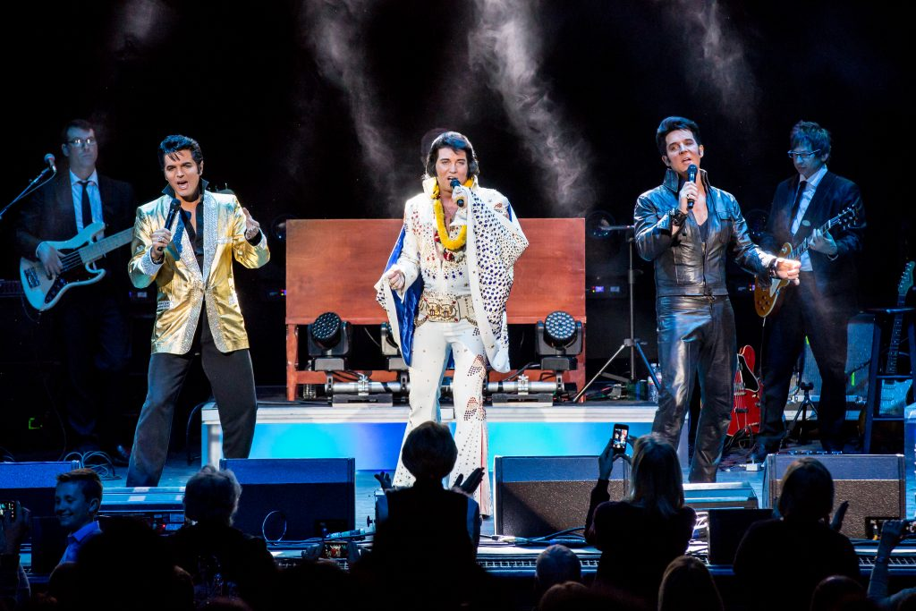 Elvis x3.