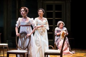 Alejandra Escalante (Marianne Dashwood), Jolly Abraham (Elinor Dashwood) and Suzanne Warmanen (Mrs. Dashwood). Photo by Dan Norman.