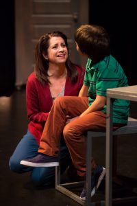 Lara Trujillo (Mom) and Alejandro Vega (Albert Grissom). Photo by Amy Anderson.