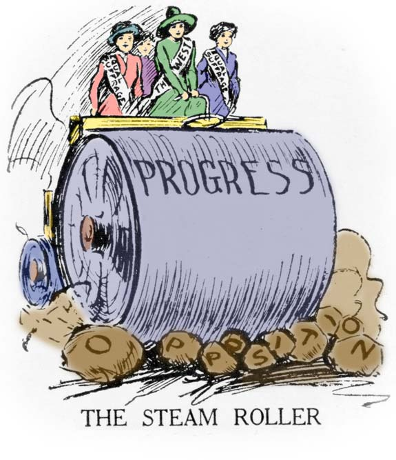 The steamroller of progress crushes the opposition.