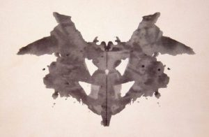 One of the original Roschach Test ink blots.