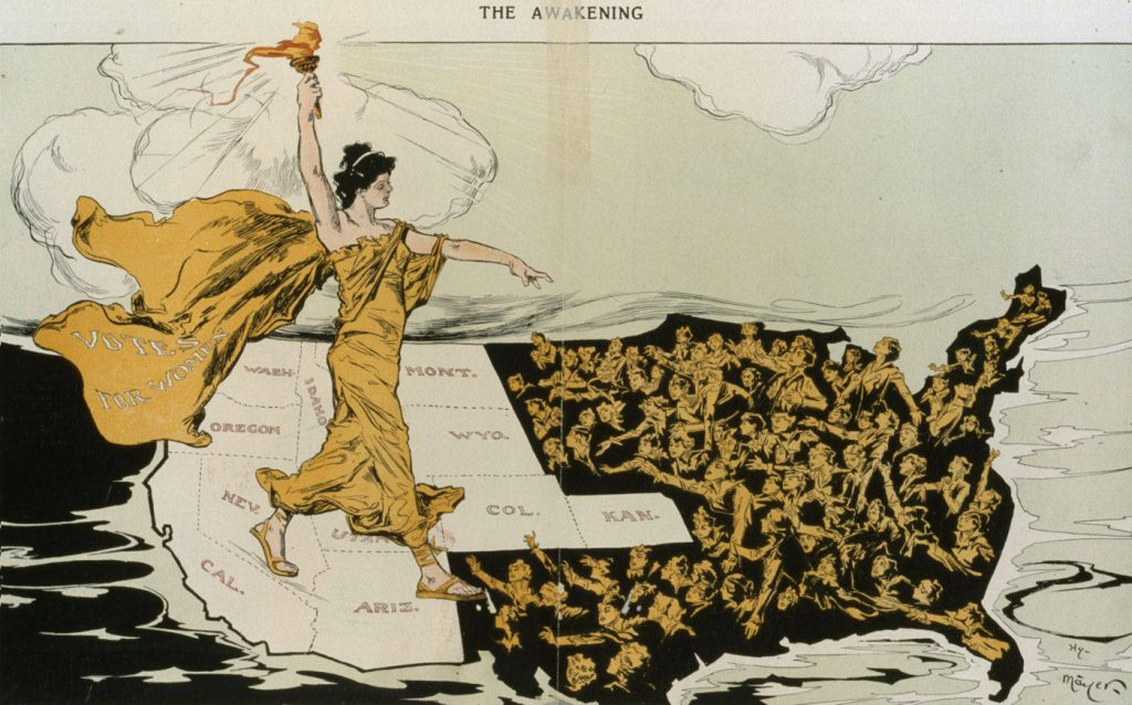Regional divisions were alive and well during the suffrage movement, with each side decrying the actions of the other, unenlightened region.
