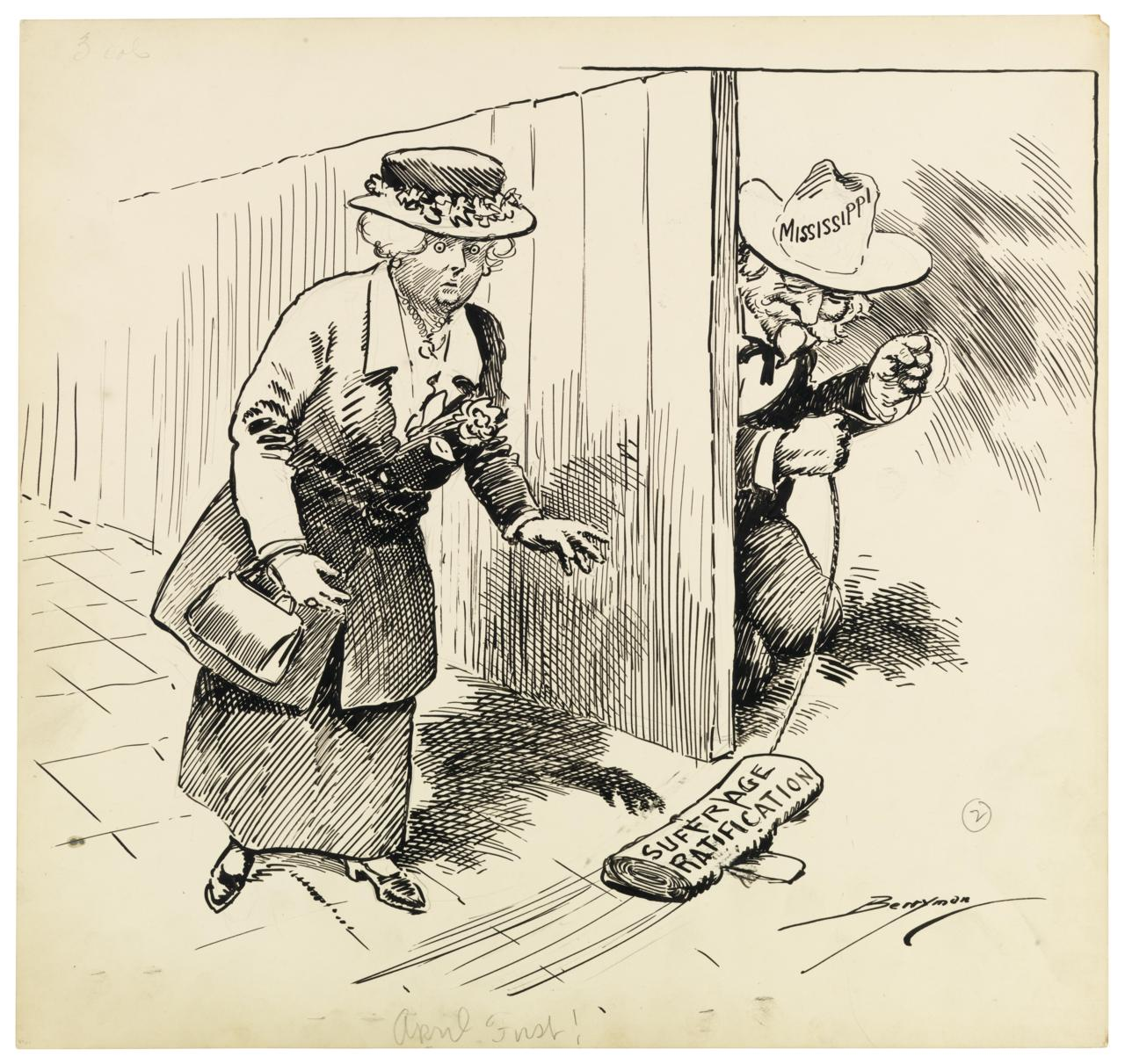 feature the battle for women s right to vote in cartoons twin another cartoon depicting the problems of ratifying the 19th amendment giving women the right to vote