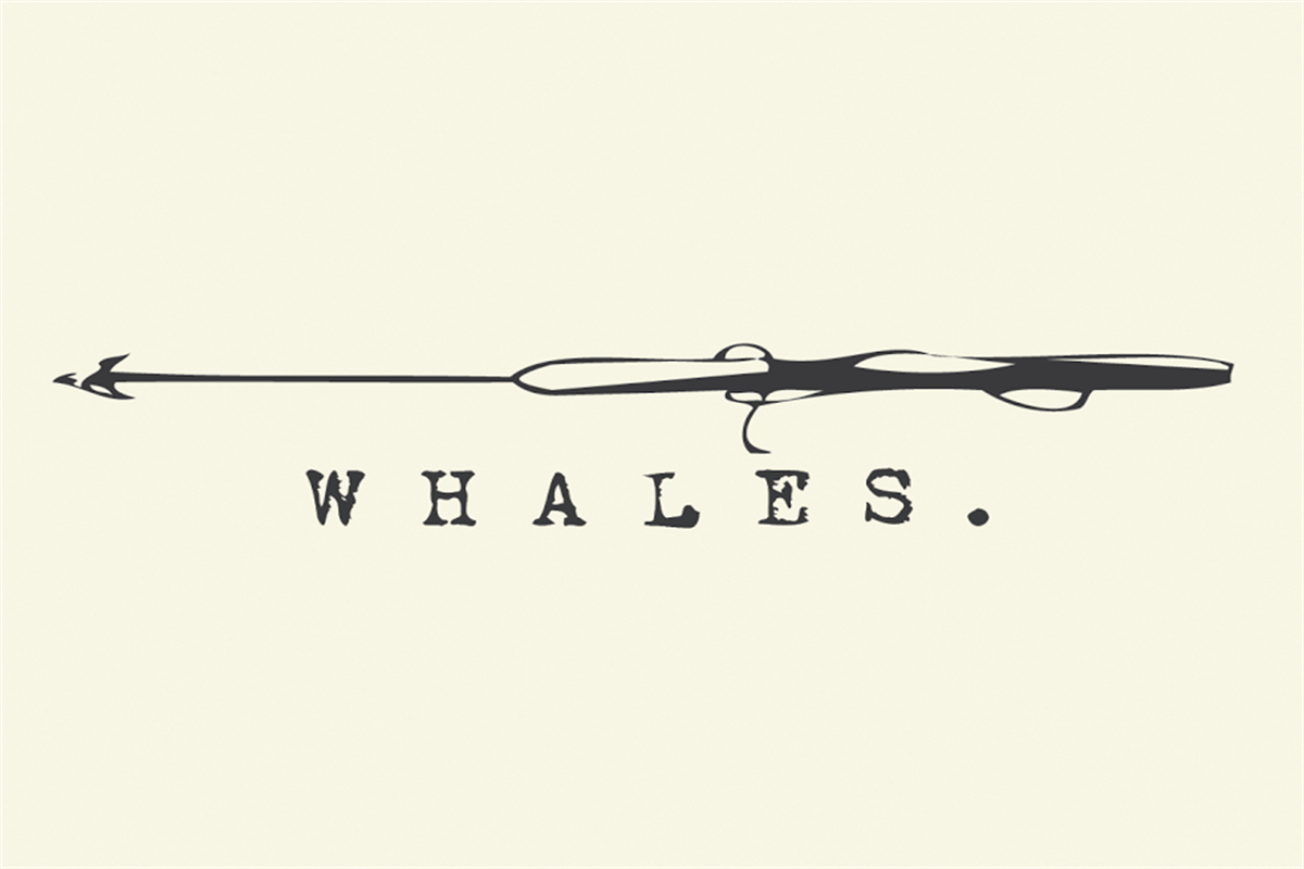 A promotional image for WHALES.