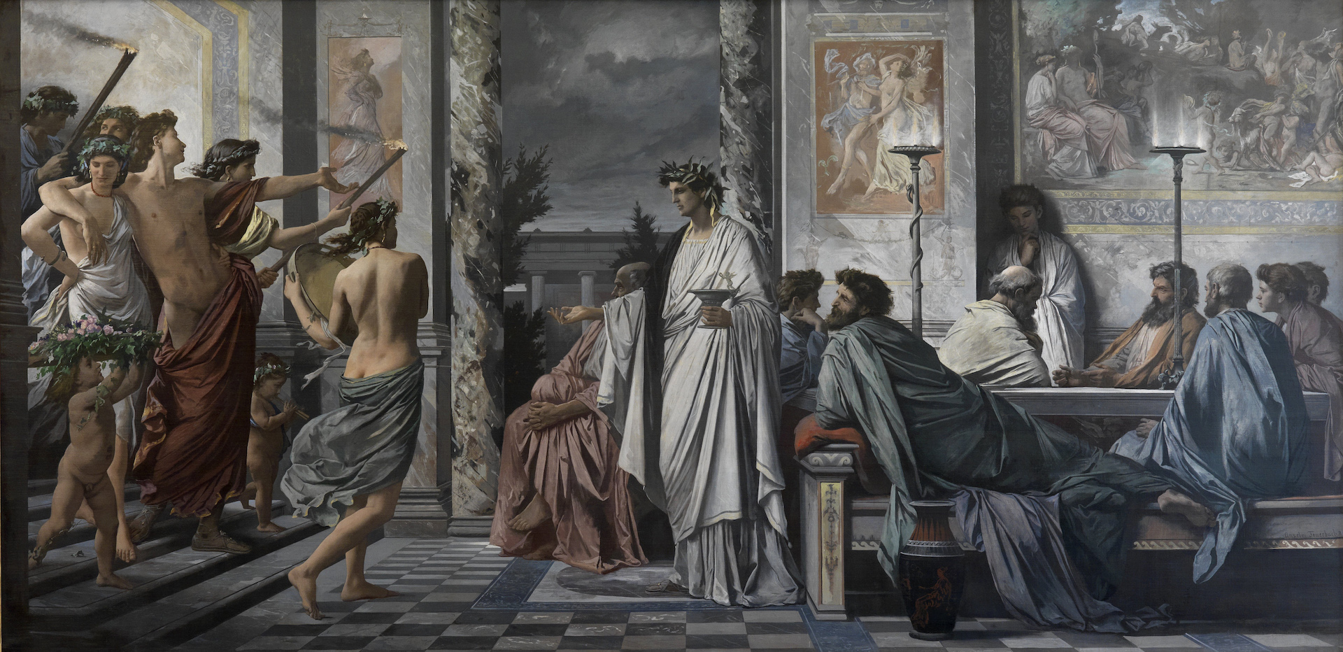 Painting of Plato's Symposium.